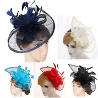 Fascinators Hat Womens Party Headband Derby Wedding Cocktail Feathers Hair Clip
