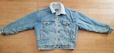 New listing Vintage 80s Levi's Denim Sherpa Lined Jean Jacket Size Medium