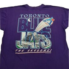 Toronto Blue Jays Vintage 1993 T Shirt Mens Skydome XL Purple
