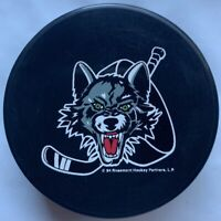 CHICAGO WOLVES IHL INGLASCO VEGUM OFFICIAL HOCKEY PUCK MADE IN SLOVAKIA