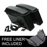 Unpainted Hard Saddlebags Saddle bag Fit For Harley Street Glide Road King 94-13
