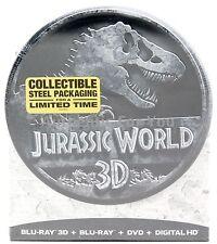 2015 Jurassic World Blu-ray/DVD Limited Edition 3D Digital Copy Steel Packaging