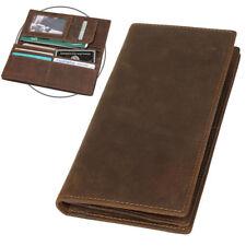 94d08322830f2 Herren Leder Portemonnaie Lange Geldbörse Bifold Brieftasche Kartenhalter
