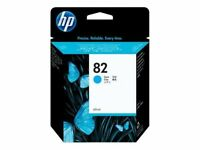 GENUINE AUTHENTIC HP HEWLETT PACKARD HP 82 CYAN INK CARTRIDGE C4911A 69ML