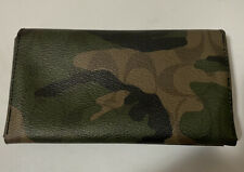 Coach Camouflage Universal Dark Green/Mahogany Phone Case Wallet F12000