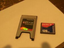 Scandisk (or other brand) PC Card min.128MB with Adapter Compact Flash PC MCIA