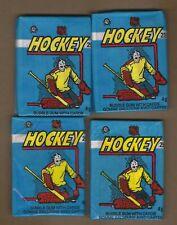 ( 4 )  1982  -  83  O PEE  CHEE  HOCKEY  WAX  PACKS    VERY  CLEAN