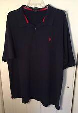 U.S 3XLT 4XLT  NWT POLO ASSN Men/'s Button Front Short Sleeve Shirt SIZES- XLT