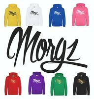 TEAM MORGZ Hoodie Kids Youtuber Girls Boys Top Hooded Sweatshirt Childrens Gift