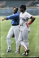 Jim Rice Cecil Cooper 35mm Baseball Slide Boston Red Sox Milwaukee Brewers D20