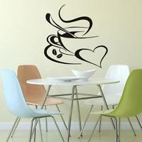 Coffee Tea Cup Kitchen Bar Mural Wall Sticker Vinyl Window Home Art Decal Decor