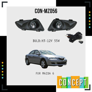 For 2003-2005 Mazda 6 Fog Lights Lamps with Assembly Set L&R Side