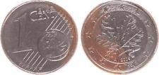 Deutschland 1 Cent 2009 A Fehlprägung Wertseite zu 90, RS zu 70% nicht plat.