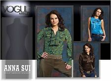 Vogue Anna Sui Vogue American Designer Pattern V2912 Sizes 4 6 8