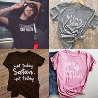 Not Today Satan T-shirt Chaos Tee Funny Slogan Tops Women Shirt Tumblr Cool Tee