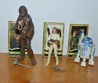 STAR WARS POTJ ACTION FIGURE LOT R2D2 PRINCESS LEIA CHEWBACCA 2000 HASBRO 3.75""