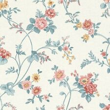 Blumenranken Tapete Creme Gelb Rosa  Rasch Textil Petite Fleur  288307