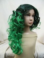 Child Green & Black Witch Wig Dark Roots Wicked Sorceress Comic Anime She Hulk