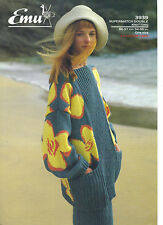 Emu Supermatch DK KNITTING PATTERN long line top and skirt 3939