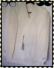 $499 44L John W Nordstrom Mens White Cream 2 Buton Linen Sportcoat Blazer Jacket