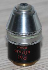 Zeiss Mikroskop Microscope Objektiv Pol 40/0,85 endlich Optik
