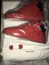 BRAND NEW Men's BALENCIAGA 'ARENA' RED Leather Sneakers Size US 8-8.5 EUR 40