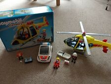 Playmobil Mountain Rescue Helicopter 5428 boxed & Medic Doctor Car Set