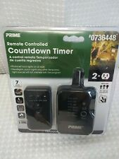 New! PRIME Outdoor Residential Lighting Countdown Timer Remote 0736448 CFL LED