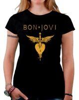 Camiseta chica mujer BON JOVI  t shirt women girl hard rock heavy