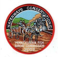 "2002 Pa Fish & Boat Comm 4"" Patch Orginal Wagon And Train"