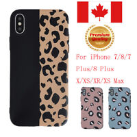 Fashion Colorful Leopard Print Case For iPhone 7 8 Plus X XS Max XR Cover Cases