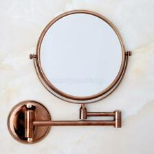 Rose Gold 8 inch Double Side Makeup Mirror Wall Mounted 3x Magnifying Mirror