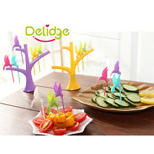 Lunch Food Pick Party Bento Fruit Dessert Cake Decor Tree Brid Salad Forks Tool
