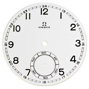 Orig. NOS Vintage Omega Porcelain Pocket Watch Dial with Sunken Seconds Track #3