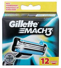 12x Gillette Mach3 Rasierklingen / 12er Pack Klingen Set in OVP / 12 Stück