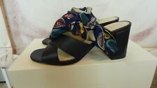 BETTYE MULLER-ANTHROPOLOGIE BLACK LEATHER STRAPPY SLIDES/HEELS     SZ. 8M   NWB
