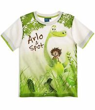 Boys T-Shirt Short Sleeve Top Paw Partol Good Dinosaur Mickey Age 2-8 Cotton New