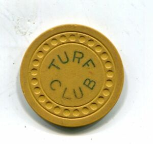 TURF CLUB CAIRO ILLINOIS ILLEGAL GAMBLING CHIP 1946