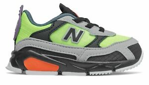New Balance Infant X-Racer Shoes Green with Black