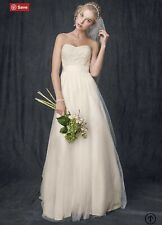 Champagne wedding dress With Sash And Hairpiece Included NWT