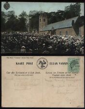 1908 ISLE of MAN Kirk Braddan, Manx Camera Card, Gaelic & English Text,