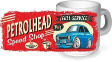 KOOLART Retro Petrolhead Speed Shop CERAMIC MUG & Mk1 Ford Escort RS Mexico pic.
