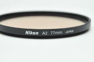 Nikon OEM 77mm A2 81A Skylight Glass Lens Filter *Excellent *