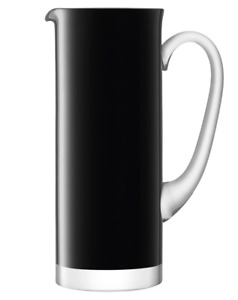 ~LSA INTERNATIONAL BLACK GLASS BASIS JUG 1.5 LITRE BNWT~
