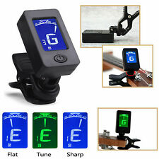 LCD CLIP ON CHROMATIC ACOUSTIC ELECTRIC GUITAR BASS UKULELE BANJO TUNER