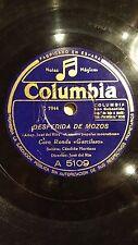 SPANISH 78 rpm RECORD Columbia CORO RONDA GARCILASO Ethnic DESPEDIDA DE MOZOS