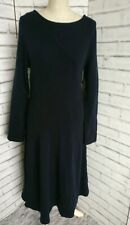 ASOS Navy Blue Wool Midi Jumper Dress Size 16 Knit *New*