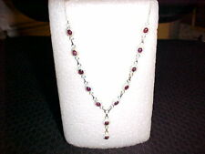 "5.20ct GEN RUBY & STERLING SILVER HAND CRAFTED NECKLACE 20"" WEIGHT IS 16.1gr"
