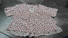 NWT H & M ANNA GLOVER CROP TOP V NECK FEATHERS 4 8