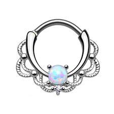 Rings Gold Nipple Septum Bead Hoop Opal Cartilage Jewelry Piercing Ring Nose
